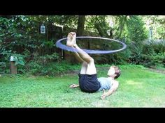 How to Hula Hoop for Beginners: Foot Hooping  Really great teacher in all his videos! If your into hooping and a beginner as well, this is a guy to adapt to :)