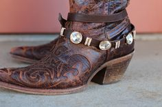 Boot Belt with Bling {Brown} | The Fair Lady Boutique