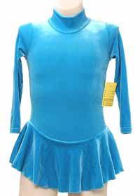 Consignment Capezio Turquoise LS Velvet Dress Toddler 4-6