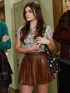 """75 Of The Most Epic Outfits From """"Pretty Little Liars"""" - - Best Pretty Little Liars Fashion – Pretty Little Liars Style – Seventeen Source by paigeway Pretty Little Liars Aria, Pretty Little Liars Outfits, Pretty Outfits, Fashion Tv, Look Fashion, Fashion Outfits, Fashion Ring, Pll Outfits, Classy Outfits"""