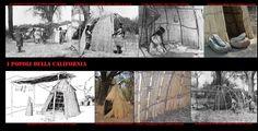 Accampamento Yokuts. Nei luoghi di sosta più breve alcuni gruppi erigevano, come i Numa del Gran Bacino, delle strutture coperte di stuoie, abitazioni a metà strada tra le capanne e le tende.
