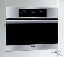 """Miele H4044BM 24"""" Speed Wall Oven with 1,000 Watts Microwave, True European Convection, Infrared Broiling, 15 Operating Modes and Chef Series Dial Controls"""