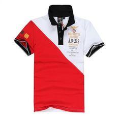polo ralph lauren outlet Aeronautica Militare AB-212 Short Sleeve Men s Polo  Shirt Red White 2458ec90f5ac1