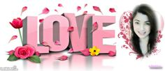 love facebook timeline cover photo. Pink. Add your own photo for free if you click through to Imikimi and click on the pic