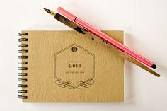 hannafaktur Terminkalender 2014 | milchkaffee von hannafaktur auf DaWanda.com Letterpress, Etsy, Organization, White Coffee, Day Planner Organization, Letterpress Printing