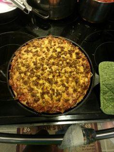 Chorizo and Egg Pizza