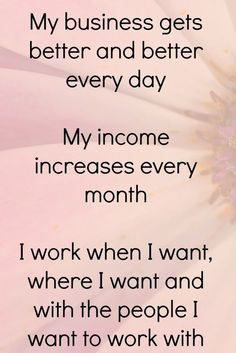 Growing my business at home. Loving my clients and what I do to help people feel better about themselves