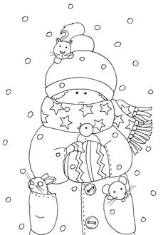 Free Dearie Dolls Digi Stamps: Keeping Friends Warm