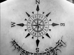 23 Cheerful Compass Rose Tattoo Ideas - 12 - Pelfind
