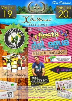 "Diseño de cartel ""Cocktail party & Fiesta del Agua"" para Xauen"