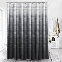 Black Shower Curtains With Faded Grey Fabric In 2020 Elegant