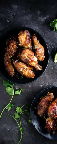 These baked Vietnamese chicken wings are marinated in a delicious umami marinade made with fish sauce sugar and garlic then roasted until sticky and caramelized. They are my absolute favorite chicken wings! Chicken Wing Marinade, Marinated Chicken Wings, Asian Chicken Wings, Baked Chicken Wings, Chicken Wing Recipes, Duck Recipes, Indian Food Recipes, Asian Recipes, Oriental Recipes