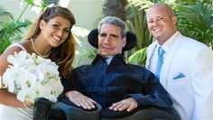 With the average prognosis of survival for ALS patients at three to five years, Augie Nieto has lived the last 10 years with the disease and was able to witness his daughter's wedding to Chris Williams, 28, on Saturday.