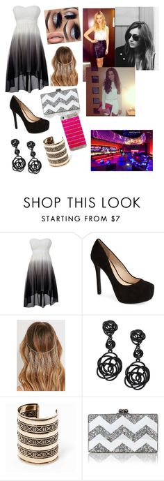 """Girl Night out with Perrie, Eleanor, and Sophia"" by onedirectionrocksd ❤ liked on Polyvore featuring Jessica Simpson, Forever 21, Oscar de la Renta, MANGO, Edie Parker, Payne, women's clothing, women, female and woman"