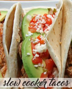 Slow Cooker Shredded Chicken Tacos. Can also freeze and store the shredded chicken for up to six months.