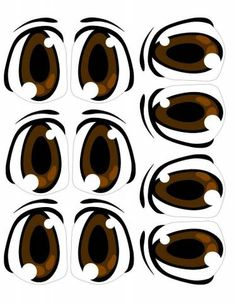 Molde de Olhos Cartoon Eyes, Cartoon Drawings, Baby Face Drawing, Doll Face Paint, Felt Crafts Patterns, Eye Stickers, Cool Paper Crafts, Doll Eyes, Face Design