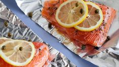 Salmon with Lemon, Capers, and Rosemary Recipe : Giada De Laurentiis : Food Network