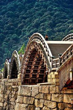 Kintai bridge.   Japan