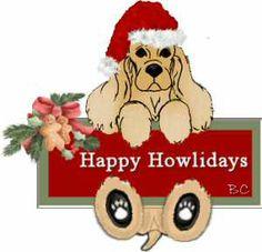 Graphics PSP Cocker Spaniel Christmas