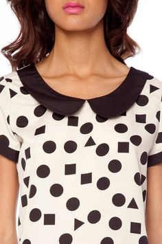 332a94c6c cream  amp  black peter pan collar blouse  26 LOVE this....Peter