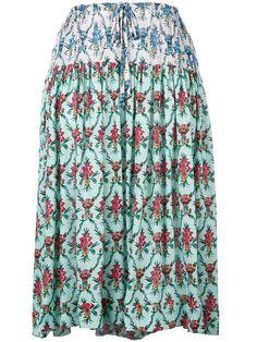 JIL SANDER floral print midi skirt. #jilsander #cloth #skirt