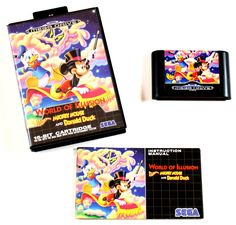 Sega Mega Drive Spiel World of Illusion Mickey Mouse & Donald Duck in OVP