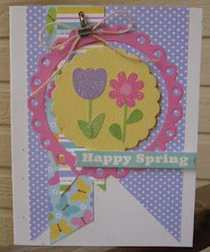 Spring Card using Nesting Scallop  Dies in a new way!