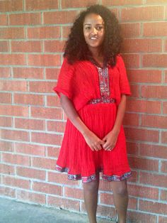 Me with my Ethiopian dress