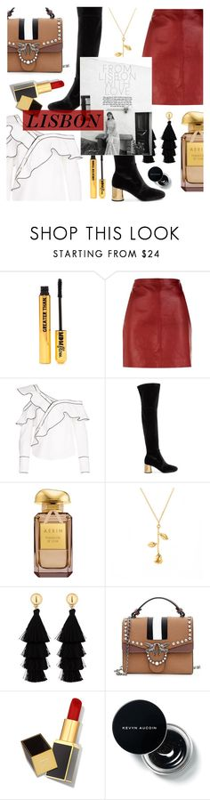 """Lisbon Travel"" by alexa-anita2010 ❤ liked on Polyvore featuring Nasty Gal, Sandro, self-portrait, Prada, Red Herring and Tom Ford"