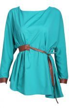To find out about the Green Long Sleeve Contrast Leather Drawstring Blouse at SHEIN, part of our latest Blouses ready to shop online today! Contrast, Wrap Dress, Blouse, Long Sleeve, Green, Leather, Chic, Shirts, Clothes