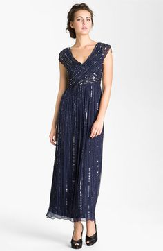 Patra V-Neck Embellished Silk Chiffon Gown available at Nordstrom
