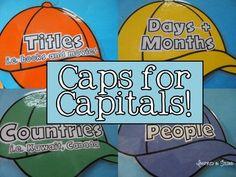 Caps for Capitals! - Proper Nouns Activity and Display