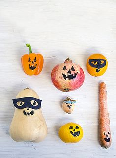 willowday: Halloween Projects: Fruit and Veggie-o-lanterns