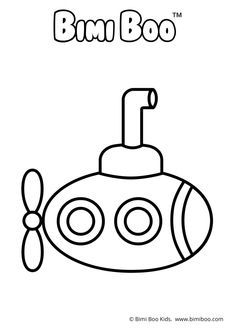 Free Coloring Book Printable Coloring Pages Submarine Bimi Boo Kids Coloring Craft Craftforkids Co Coloring Books Submarine Craft Quiet Book Patterns