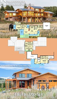 Architectural Designs House Plan 640006SRA. 4BR | 4BA | 3,700+SQ.FT. Ready when you are. Where do YOU want to build? #640006sra #adhouseplans #architecturaldesigns #houseplan #architecture #newhome #newconstruction #newhouse #homedesign #dreamhome #dreamhouse #homeplan #architecture #architect