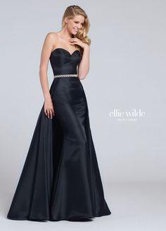 b2dac9b93cc4 Ellie Wilde 117051 Black Strapless Prom Dress Black Strapless Dress