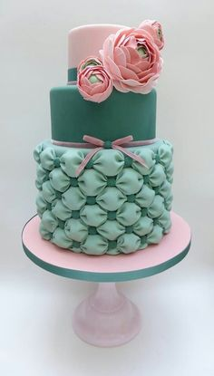 Mint green & baby pink  love this design everything perfect