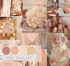 Blush and gold wedding colour