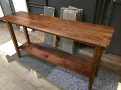 Walnut couch table