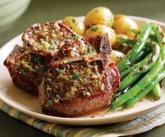 Lamb Chops with Lemon, Thyme & Mustard Butter ~ finecooking.com