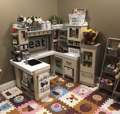 Step 2 Grand Walk In Wood Kitchen Set Playroom Toy Ideas Play Kitchen Sets, Toy Kitchen, Ikea Duktig, Home Daycare, Toy Rooms, Home And Deco, Creative Kids, Play Houses, Kids Furniture
