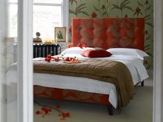 The Buttons king size bed in Designer fabric; prices start from £895  http://www.sofa.com/shop/beds/upholstered-beds/buttons#230-HOUCOO-0-0