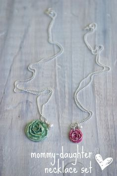Mommy and daughter necklaces