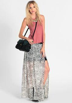 Split Combo Skirt By Evil Twin 92.00 at threadsence.com