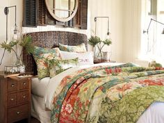 Bedroom Design Inspiration & Bedroom Décor Inspiration   Pottery Barn. Bedding is awful, but other things in the room are fun