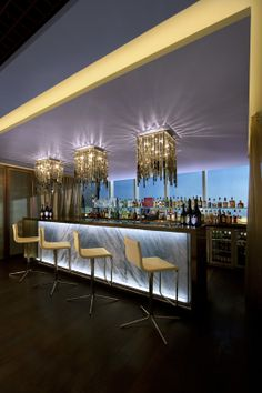 Quest Bar at the Jumeirah at Etihad Towers, Abu Dhabi by DBI Design