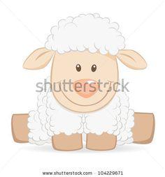 Illustration of Cartoon baby sheep vector art, clipart and stock vectors. Cartoon Lamb, Cartoon Hippo, Cartoon Fish, Baby Cartoon, Sheep Vector, Dog Vector, Vector Art, Funny Sheep, Cute Sheep