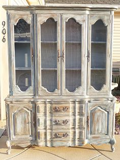 I could refinish my vintage hutch into something like this and put it in the basement