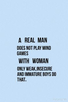 "Say No to man-haters!!  Only a weak, insecure, ignorant, immature, judgemental woman would say ""real man"". It's about PEOPLE, NOT GENDER!!!  And everyone is different & some women are just too dumb for certain men. So don't take it out on the male gender because you can't get the man you want."
