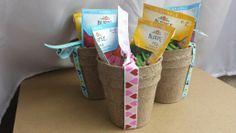 Kids' birthday party guest gift. Instead of giving loot bags full of candy & plastic, give biodegradable pots and seeds!